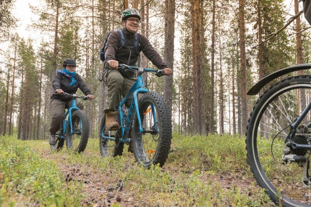 Le fat bike, un moyen original de se promener dans les forêts les plus ouvertes.